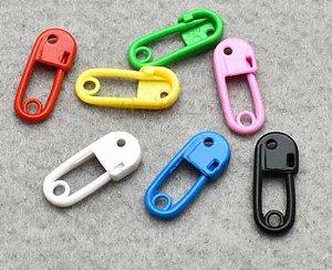 Marcador - Alfinete Plástico - (Pacote com 10 unidaes) Tamanho: 18mm *cores aleatórias*