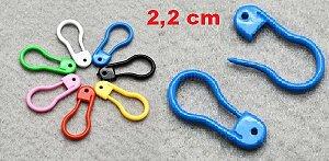 Marcador - Alfinete Plástico - (Pacote com 10 unidades) Tamanho: 22mm *cores aleatórias*