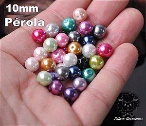 Pérola Miçanga - Tamanho 10 mm  - 100% ABS  *Pacote com 30 unidades*