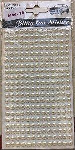 Sticker's - Autocolantes - 1/2 perola - (5 mm) *cartela com 260 unidades*