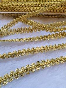 Passamanaria Dourada - 11 mm - REF: 0018 - (Venda por metro)