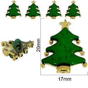Botão Infanti Árvore de Natal com pé  - 10mm x 17mm -  pcte com 3 unidades