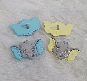 Botão infantil Elefante - Pacote com 3 unidades - 20mm x 31mm