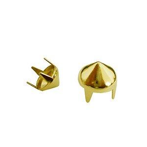 Grampo Spike 07 latonado dourado com - embalagem com 100 unidades
