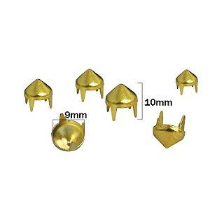 Grampo Spike 9  Latonado dourado  - 9mm x 10mm - pacote com 100 unidades