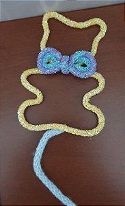 Tubo Cordão PVC com paetê bolinha neon. Expessura 5mm. Ideal para decorar seus trabalhos de tricotim - Venda por metro (não acompanha arame)