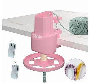 Maquina de Tricotim ABS Resistente e Durável Cor Rosa Bebe-  TRICORD