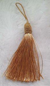 Tassel - Pingente Pompom com Tulipa - 9cm *Caramelo* (venda por unidade)