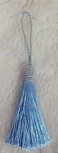 Tassel - Pingente Pompom com Tulipa - 9cm *Azul Claro* (venda por unidade)