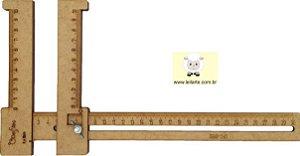 Régua Gabarito Regulável Para Cabelo De Boneca - 15cm (P), 30 cm (M) e 50 cm (GG)