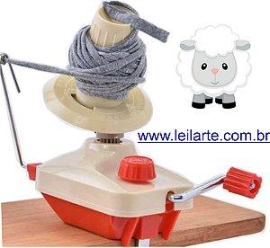 Enrolador manual de fios, lãs, linhas, barbantes  - Prático e fácil de usar.