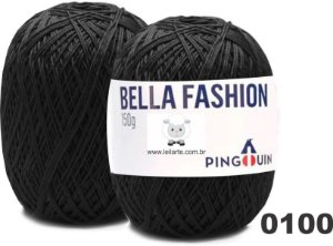 Bella Fashion , 150g, 0100 - Preto - TEX 295
