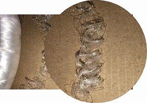 Cabelo de Nylon Ondulado tipo Kanekalon (Maço com aproximadamente 250 Gramas) - cor Branco