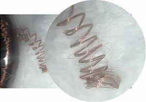 Cabelo de Nylon Ondulado tipo Kanekalon (Maço com aproximadamente 250 Gramas) - cor Castanho Médio