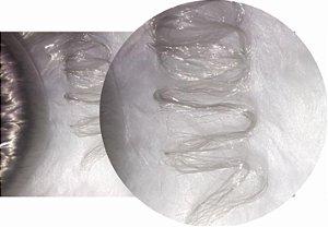 Cabelo de Nylon Ondulado tipo Kanekalon (Maço com aproximadamente 250 Gramas) - cor Prata
