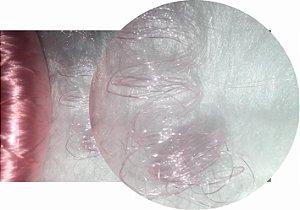 Cabelo de Nylon Ondulado tipo Kanekalon (Maço com aproximadamente 250 Gramas) - cor Rosa
