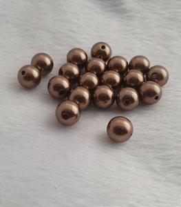 Pérola ABS Bronze - 12 mm - Pacote com 20 gramas