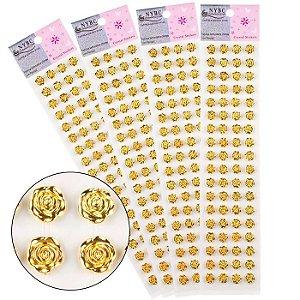 Sticker - Cartela Adesiva - Autocolantes -Rosinha - 10 mm - cartela com 68 rosinhas