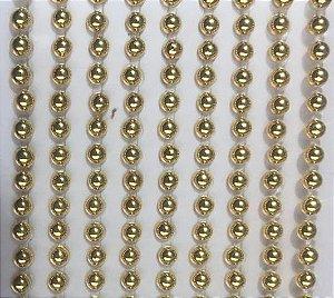 Sticker's - Autocolantes - 1/2 Pérola (Dourada) - Mod. P-4 - Tam: 4 mm - cartela com 504 unidades