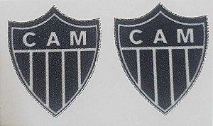 Emblema Termocolante Atlético Mineiro - Tamanho 21 X 25 mm - (Venda por par)