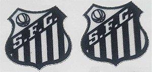 Emblema Termocolante Santos - Tamanho 22 x 23 mm - (Venda por par)