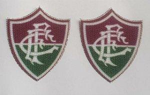 Emblema Termocolante Fluminense - Tamanho 25 x 21mm - (Venda por par)