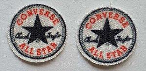 Emblema Termocolante All Star (Estrela) - Tamanho 19 mm - (Venda por par)