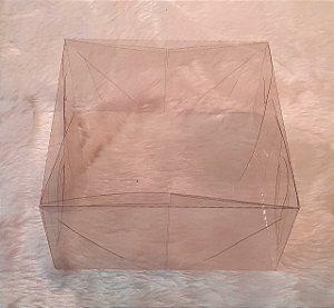 Caixa de Acetato transparente duas folhas - medidas 12 x 12 x 6cm - Emabalagem com 10 folhas (5 caixas)