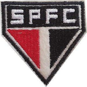 Brasão do São Paulo Bordado - Patch - Medida: 5,5 de largura x 5,6 de altura - *Venda por unidade*