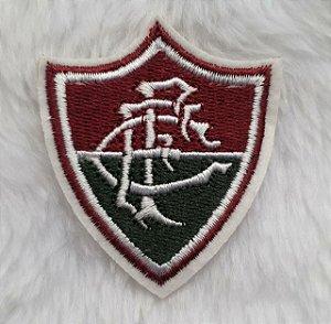 Brasão do Fluminense Bordado - Patch - Medida: 5,4 cm de largura x 6,1 cm altura - *Venda por unidade*