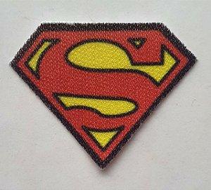 Termocolante - Brasão Super Homem - 30 x 25 mm - ***Venda por par***