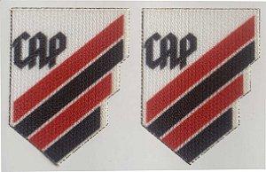 Emblema Termocolante Clube Atlético Paranaense (novo) - Tamanho 20 x 26 mm - (Venda por par)