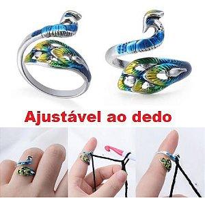 Dedal Anel Pavão Colorido - para Croche e Tricô - venda Por Unidade