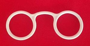 Óculos de Mestre - Material plástico - Cor Branco - 80mm X 30mm - *venda por unidade*