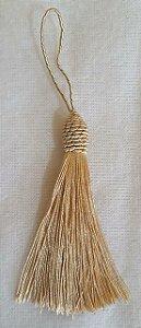 Tassel - Pingente Pompom com Tulipa - 9cm *Dourado* (venda por unidade)