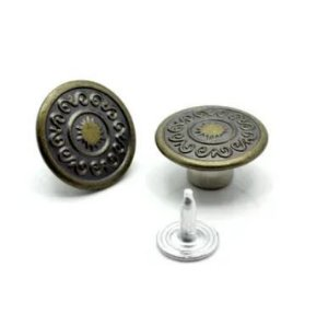 Botão Fixo Eberle 17 mm Ouro Velho - Embalagem com um par