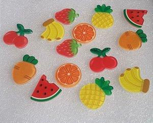 Patch Acrílico Frutinhas - para colagem -  *embalagem com 5 unidades*