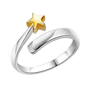 Dedal Anel Estrela (cor níquel com estrela dourada) - para Croche e Tricô - venda Por Unidade