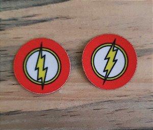 Emblema Termocolante Flash -  Tamanho 23 mm - (Venda por par)