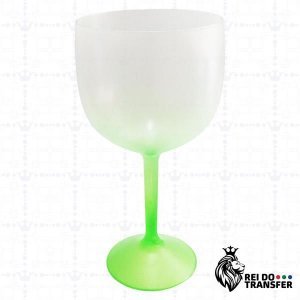 Taça De Gin Acrílico 570 ml Verde 1 un Degradê