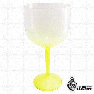 Taça De Gin Acrílico 570 ml Amarelo Neon 1 un Degradê