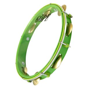 "Pandeiro Gope Super Leve 12"" Verde Store Pele Cristal"