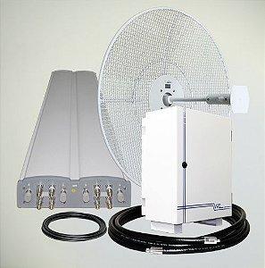 KIT REPETIDOR DE SINAL CELULAR - 123db (1 WATT) - Ideal para cobertura de sinal em áreas grandes