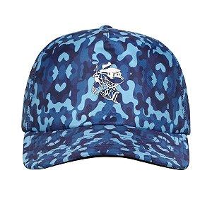 Boné Camuflado Azul