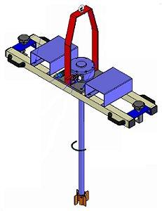 Misturador Agitador para Tanque IBC Motor Pneumático Direto