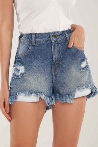 SHORTS HOT PANTS JEANS DESTROYED