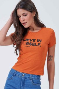 T-SHIRT CANELADA BASIC