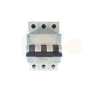 Mini Disjuntor 3P GE33 Curva C 50A 3kA
