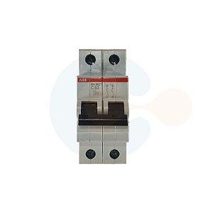 Mini Disjuntor 2P SH202T Curva C 63A 5kA