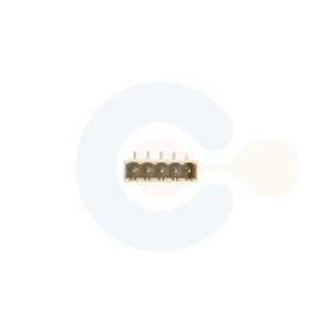 Conector Encaixe Macho p/ PCI 5,08mm Horizontal c/ laterais 5 Vias Branco